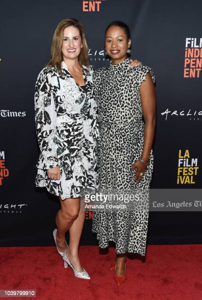 Director Linda Midgett and Dr Larycia Hawkins attend the 2018 LA Film Festival Screening of 'Same God' at the ArcLight Hollywood on September 24 2018...