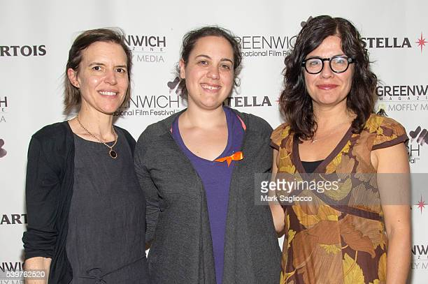 Director Lisa Robinson Rachel Langus and Writer Annie J Howell attend the Closing Night Feature 'Claire in Motion' at the 2016 Greenwich...