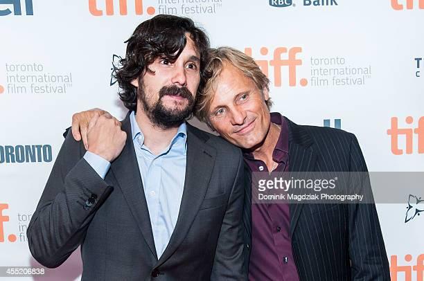 Director Lisandro Alonso actor Viggo Mortensen attend the 'Jauja' premiere during the Toronto International Film Festival at TIFF Bell Lightbox on...