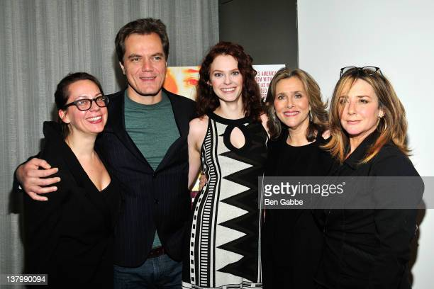 Director Liza Johnson Michael Shannon Bonnie Swencionis Meredith Vieira and Talia Balsam attend the premiere of 'Return' at The Museum of Modern Art...