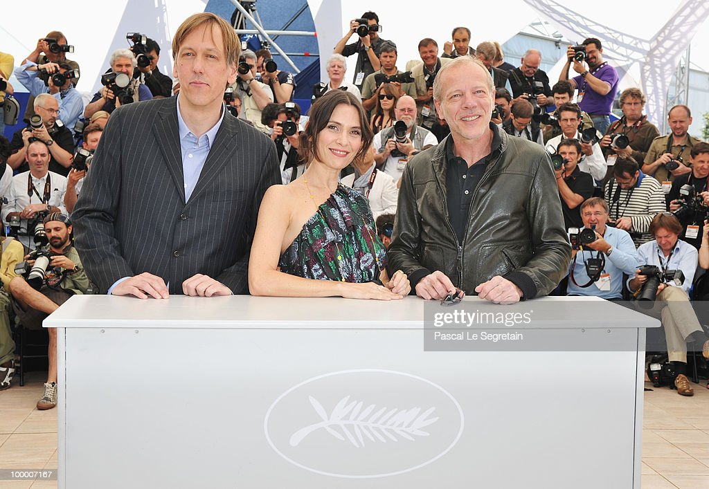 Director Lodge Kerrigan, Actors Geraldine Pailhas and Pascal Greggory attend the 'Rebecca H. (Return To The Dogs)' Photocall at the Palais des Festivals during the 63rd Annual Cannes Film Festival on May 20, 2010 in Cannes, France.