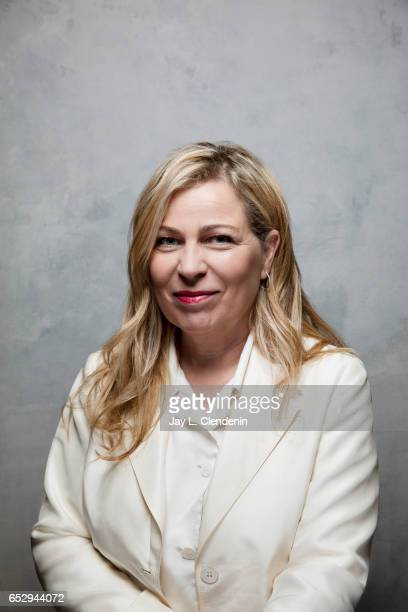 Director Lone Scherfig from the film Their Finest is photographed at the 2017 Sundance Film Festival for Los Angeles Times on January 21 2017 in Park...