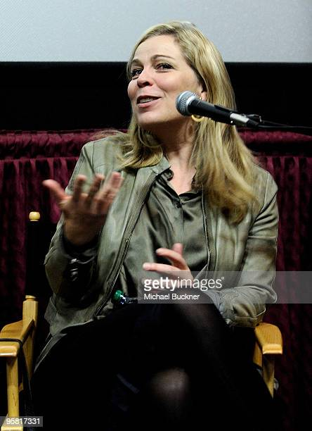 Director Lone Scherfig speaks at the screening of An Education at the 2010 Palm Springs International Film Festival at the Regal Theatre on January...