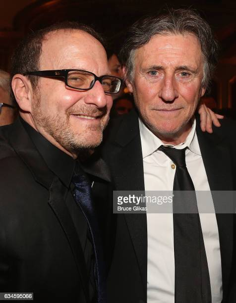 Director Lonny Price and Gabriel Byrne pose at the Opening Night of 'Sunset Boulevard'on Broadway at The Palace Theatre on February 9 2017 in New...