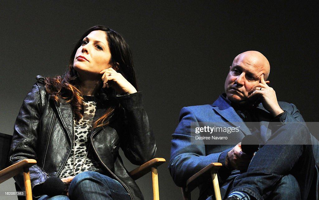 Director Lori Silverbush and Chef/TV personality Tom Colicchio attend Apple Store Soho Presents: Meet The Filmmakers - 'A Place At The Table' at Apple Store Soho on February 18, 2013 in New York City.