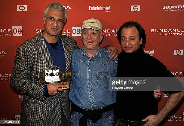 Director Louie Psihoyos activist Ric O'Barry and producer Fisher Stevens attend the Awards Night Ceremony during the 2009 Sundance Film Festival at...