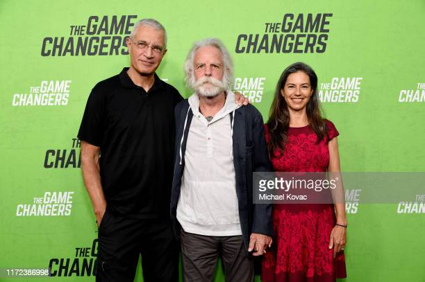 Director Louie Psihoyos Bob Weir and Natascha Münter attend the Los Angeles Premiere of The Game Changers Documentary at ArcLight Hollywood on...