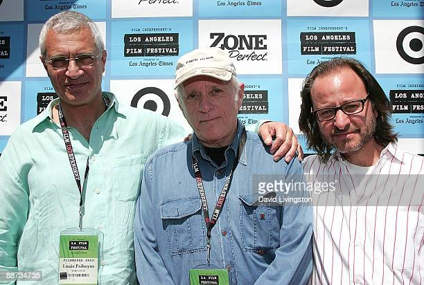 Director Louie Psihoyos dolphin rights activist Ricahrd O'Barry and producer Fisher Stevens attend the 2009 Los Angeles Film Festival's screening of...