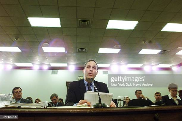 Director Louis Freeh testifies at a House Appropriations subcommittee hearing in Washington Freeh acknowledged a serious error in the bureau's...