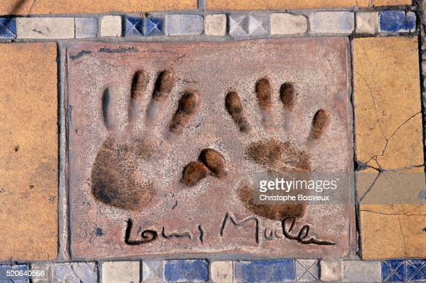 Director Louis Malle's Hand Prints in the Passage of the Stars
