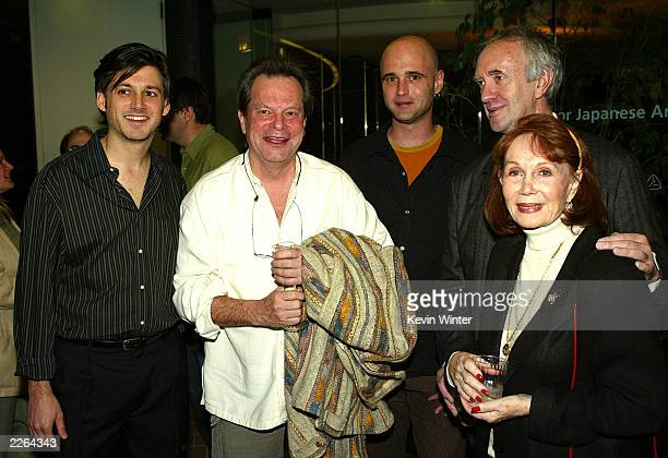 Director Louis Pepe Terry Gilliam director Keith Fulton Jonathan Pryce and Katherine Hellman at a reception and screening of Lost in La Mancha for...
