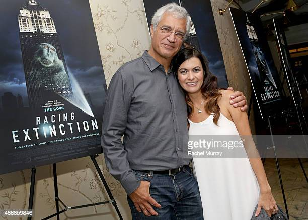 'RACING EXTINCTION' Director Louis Psihoyos and film's subject Leilani Munter attend the after party for the Los Angeles premiere of RACING...