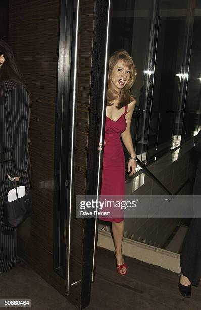 Director Loveday Ingram attends the opening night afterparty for When Harry Met Sally at The Trafalgar Hilton Bar after the performance at The...