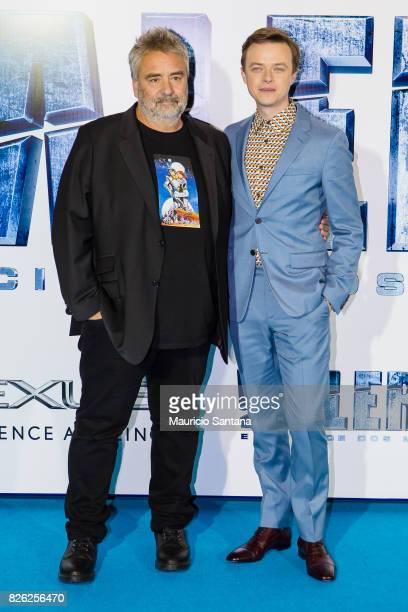 Director Luc Besson and actor Dane DeHaan attends the 'Valerian' Sao Paulo Premiere at Cinepolis JK on August 3 2017 in Sao Paulo Brazil