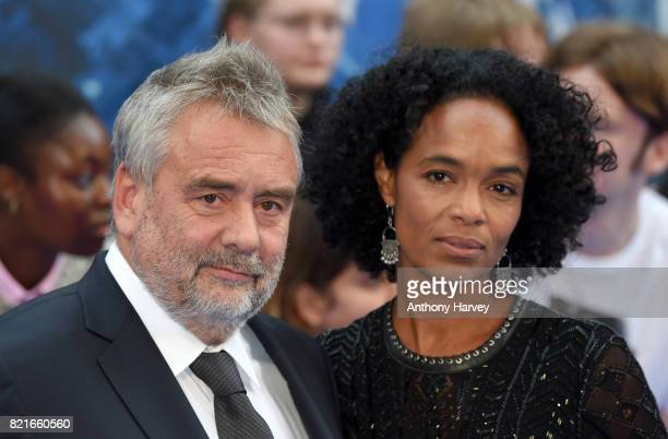 Director Luc Besson and his wife Virginie BessonSilla attend the 'Valerian' European premiere at Cineworld Leicester Square on July 24 2017 in London...