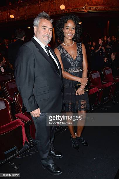 Director Luc Besson and his wife Virginie Silla attend the 40th Cesar Film Awards 2015 Ceremony at Theatre du Chatelet on February 20 2015 in Paris...