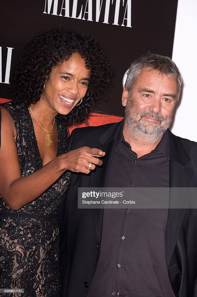 Director Luc Besson and his Wife Virginie Silla attend the 'Malavita' premiere at Europacorp Cinemas at Aeroville Shopping Center, in Roissy-en-France, France.