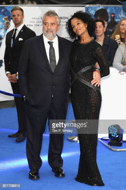 Director Luc Besson and producer Virginie Besson attend the 'Valerian And The City Of A Thousand Planets' European Premiere at Cineworld Leicester...
