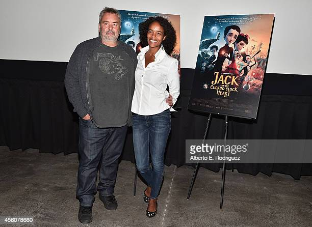 Director Luc Besson and producer Virginie BessonSilla attend the Los Angeles premiere of 'Jack And The CuckooClock Heart' at the Laemmle NoHo 7 on...