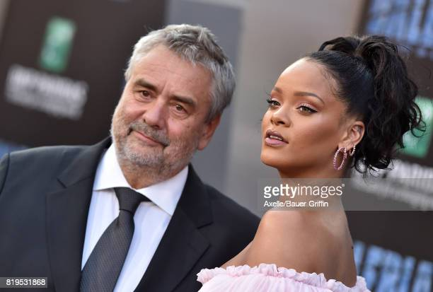 Director Luc Besson and singer/actress Rihanna arrive at the Los Angeles premiere of 'Valerian and the City of a Thousand Planets' at TCL Chinese...