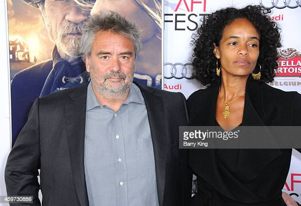 Director Luc Besson and Virginie Silla arrive at AFI FEST 2014 Presented By Audi 'Saint Laurent' Special Screening held at Dolby Theatre on November...