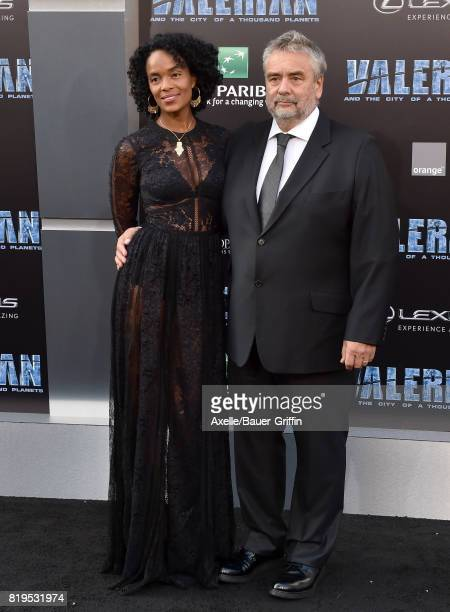 Director Luc Besson and wife Virginie BessonSilla arrive at the Los Angeles premiere of 'Valerian and the City of a Thousand Planets' at TCL Chinese...