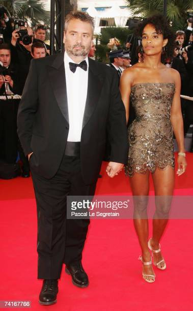 Director Luc Besson and wife Virginie Silla arrive at 'My Blueberry Nights' premiere and 60th International Cannes Film Festival Opening Night on May...