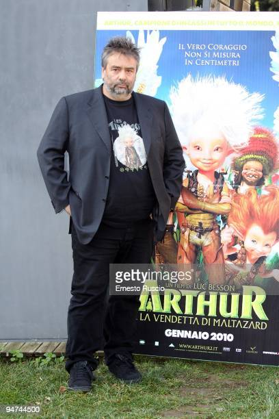 Director Luc Besson attends the 'Arthur And The Revenge of Maltazard' photocall at La Casa Del Cinema on December 18 2009 in Rome Italy