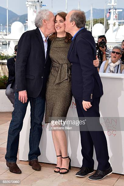 Director Luc Dardenne actress Adele Haenel and director JeanPierre Dardenne attend 'The Unknown Girl ' Photocall during the 69th annual Cannes Film...