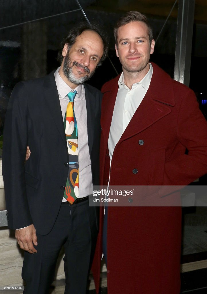 Director Luca Guadagnino (L) and actor Armie Hammer attend the after party for the screening of Sony Pictures Classics' 'Call Me By Your Name' hosted by Calvin Klein and The Cinema Society at Bar SixtyFive on November 16, 2017 in New York City.