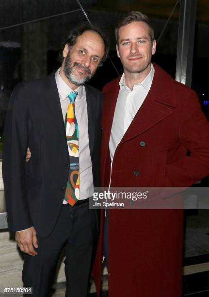 Director Luca Guadagnino and actor Armie Hammer attend the after party for the screening of Sony Pictures Classics' 'Call Me By Your Name' hosted by...