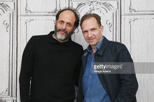 Director Luca Guadagnino and actor Ralph Fiennes attend AOL Build Series to discuss 'A Bigger Splash' at AOL Studios In New York on April 20 2016 in...