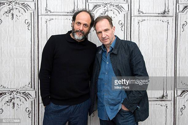 Director Luca Guadagnino and actor Ralph Fiennes attend the AOL Build Speaker Series to discuss 'A Bigger Splash' at AOL Studios In New York on April...