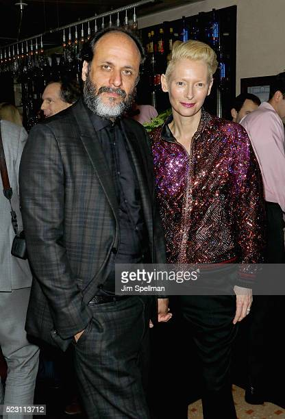 Director Luca Guadagnino and actress Tilda Swinton attend the after party for the screening of 'A Bigger Splash' hosted by Fox Searchlight Pictures...