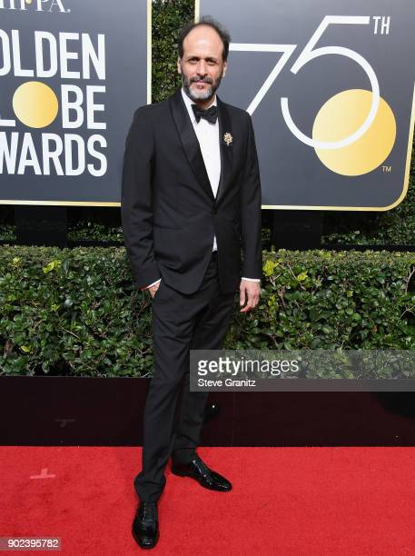 Director Luca Guadagnino attends The 75th Annual Golden Globe Awards at The Beverly Hilton Hotel on January 7 2018 in Beverly Hills California