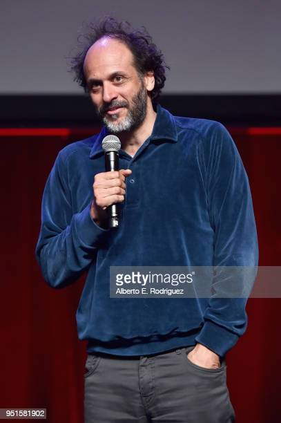 Director Luca Guadagnino speaks onstage during CinemaCon 2018 Amazon Studios An Exciting New Year of Great Product for Cinemas Program at Caesars...