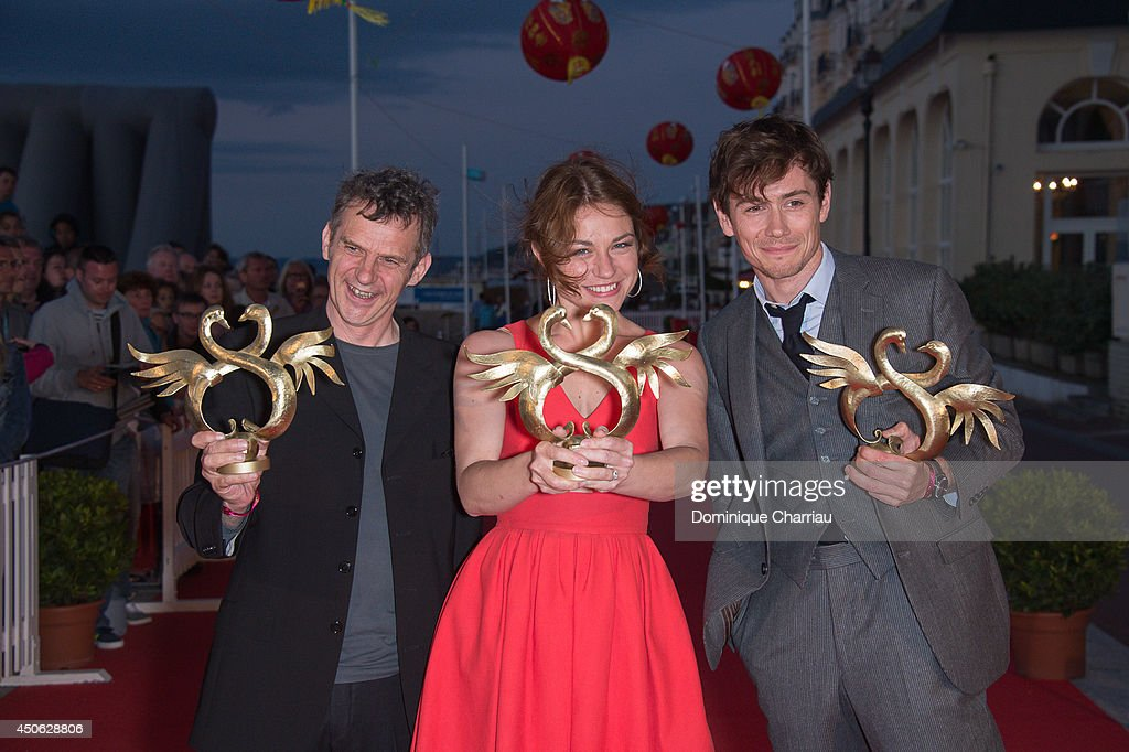 Director Lucas Belvaux awarded 'Best Film' Emilie Dequenne awraded 'best Actress' and Loïc Corbery awarded 'Best Actor' during the 28th Cabourg Film Festival : Day 4 on June 14, 2014 in Cabourg, France.