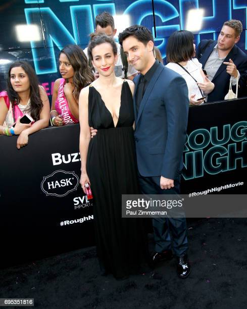 Director Lucia Aniello and Paul W Downs attend the 'Rough Night' New York Premiere on June 12 2017 in New York City