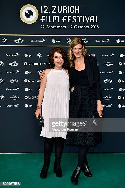 Director Lucia Carreras and Festival director Nadja Schildknecht attend the 'Tamara and the Ladybug' photo call during the 12th Zurich Film Festival...