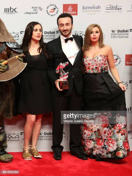 Director Lucien Bourjeily with the Muhr Feature Jury Prize award for Heaven Without People attends the Star Wars The Last Jedi Closing Night red...