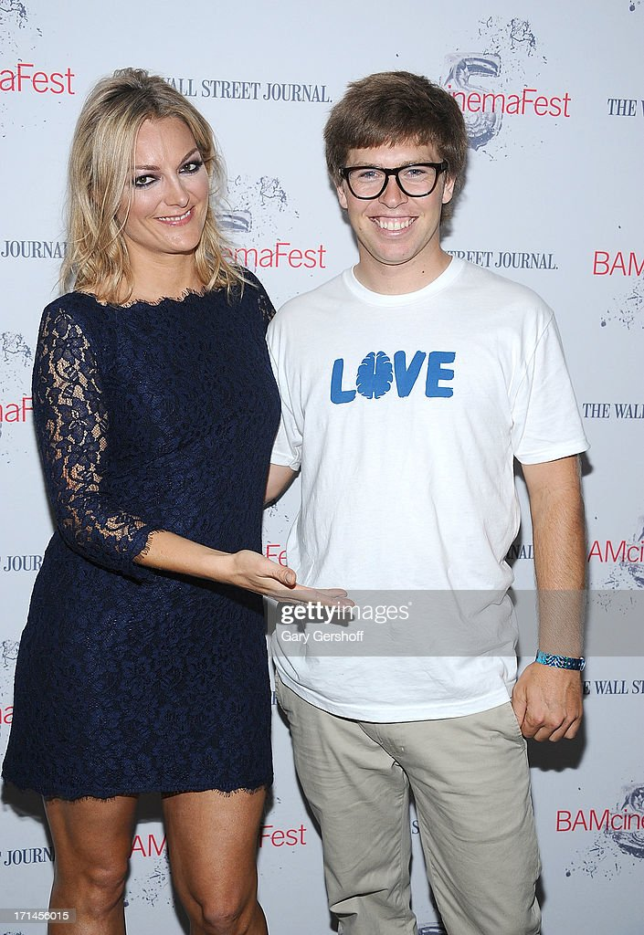 Director Lucy Walker (L) and film subject Kevin Pearce attend BAMcinemaFest New York 2013 Screening Of 'The Crash Reel' at BAM Rose Cinemas on June 24, 2013 in New York City.