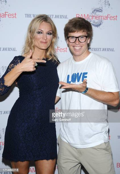 Director Lucy Walker and film subject Kevin Pearce attend BAMcinemaFest New York 2013 Screening Of 'The Crash Reel' at BAM Rose Cinemas on June 24...