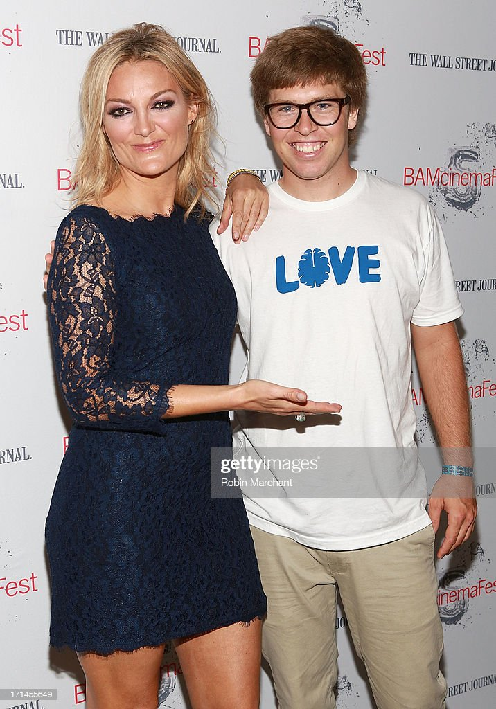 Director Lucy Walker (L) and snowboarder Kevin Pearce attend BAMcinemaFest New York 2013 Screening Of 'The Crash Reel' at BAM Rose Cinemas on June 24, 2013 in New York City.