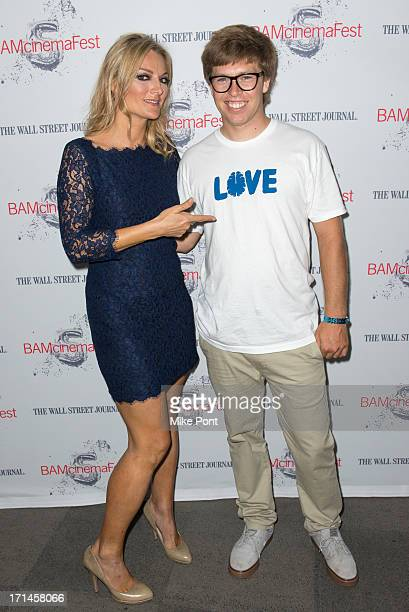 Director Lucy Walker and Snowboarder Kevin Pearce attend BAMcinemaFest New York 2013 Screening Of The Crash Reel at Peter Jay Sharp Theater on June...