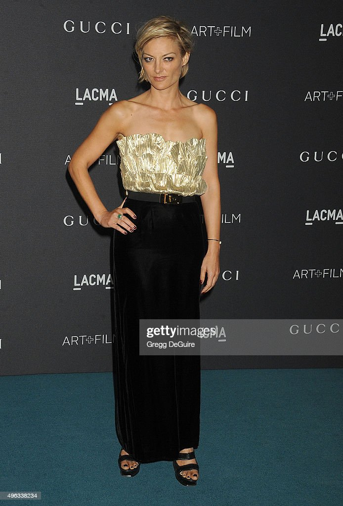 Director Lucy Walker arrives at the LACMA 2015 Art+Film Gala Honoring James Turrell And Alejandro G Inarritu, Presented By Gucci at LACMA on November 7, 2015 in Los Angeles, California.