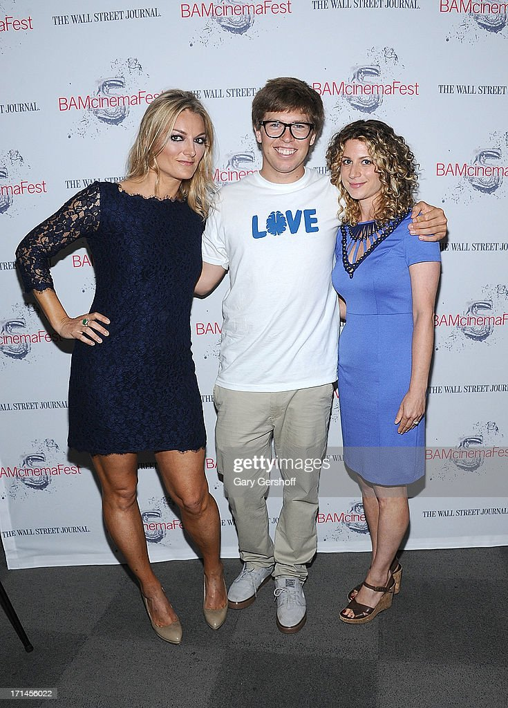 Director Lucy Walker film subject Kevin Pearce and HBO Programming Executive Sara Bernstein attends BAMcinemaFest New York 2013 Screening Of 'The Crash Reel' at BAM Rose Cinemas on June 24, 2013 in New York City.