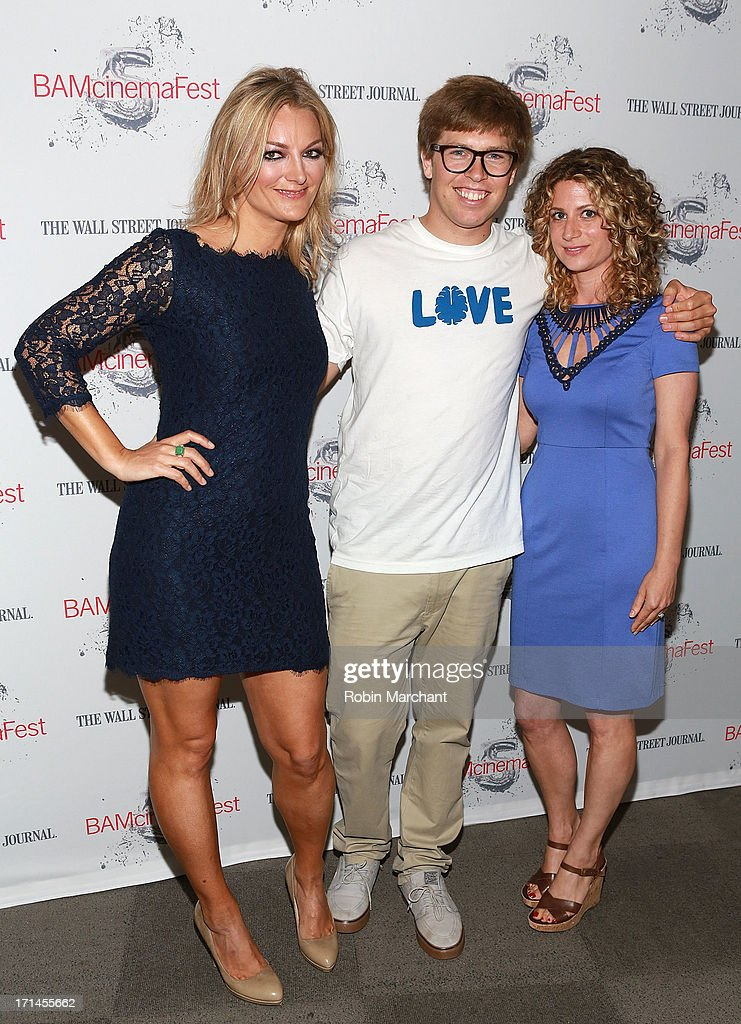 Director Lucy Walker, snowboarder Kevin Pearce and Sara Bernstein attend BAMcinemaFest New York 2013 Screening Of 'The Crash Reel' at BAM Rose Cinemas on June 24, 2013 in New York City.