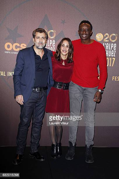 Director Ludovic Bernard Actress Alice Essaidi and Actor Ahmed Sylla attend 'L'Ascension' Photocall during tne 20th L'Alpe D'Huez International Film...