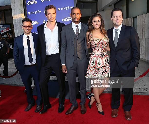 Director Luke Greenfield and actors James D'Arcy, Damon Wayans Jr., Nina Dobrev and Jake Johnson attend the premiere of Twentieth Century Fox's...