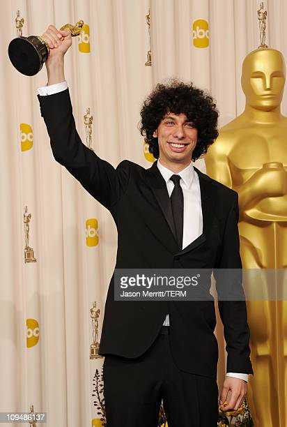 Director Luke Matheny, winner of the award for Best Live Action Short Film for 'God of Love', poses in the press room during the 83rd Annual Academy...